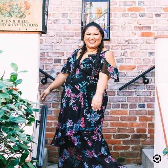 Lane Bryant Dresses & Skirts - Printed Ruffle Maxi Dress